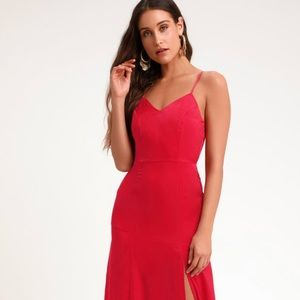 Lulus Luxe Red Maxi Dress